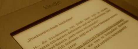 Kindle Touch im Einsatz