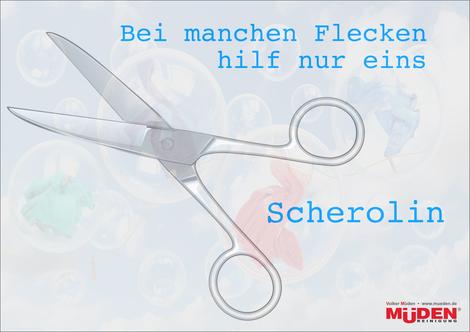 mueden.de, BLOG, Scherolin, Bild zeigt Schere auf buntem Hintergrund