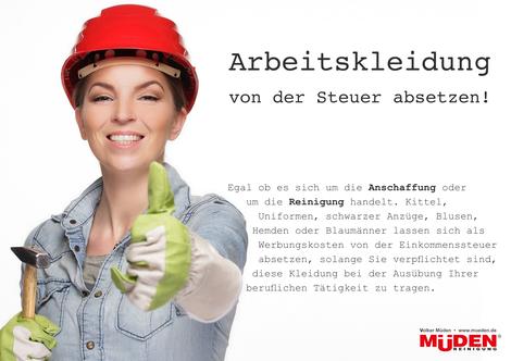 mueden.de, Blog, Arbeitskleidung absetzen, Frau mit rotem Helm