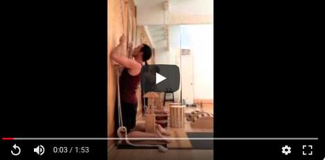 Stumpen rund verstellbar Anwendungsvideo von yogawood.