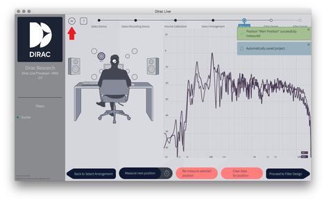 Dirac Live 音響測定
