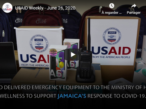 USAID Video boasting of shipping ventilators to Jamaica