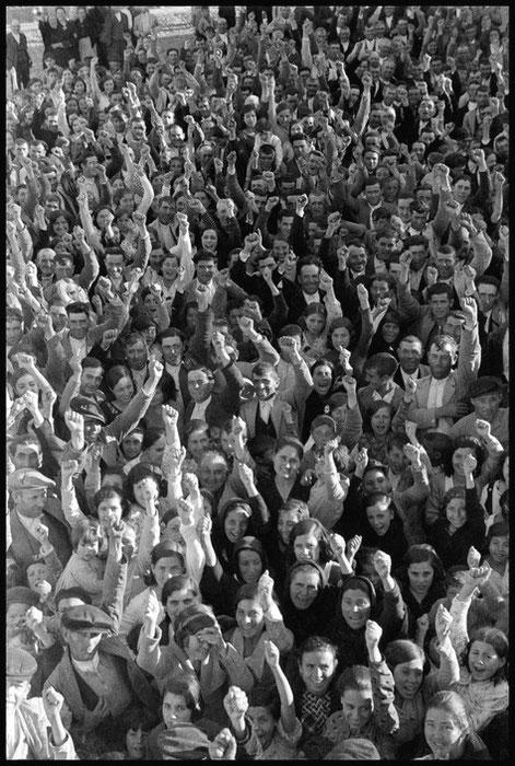 Anarkistisk initieret folkeforsamling på landet i Estremadura., maj 1936