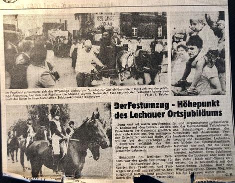 Artikel der Freiheit vom 1987 zum Jubiläum