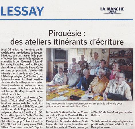 La Manche libre du 04/08/12 - édition de Coutances