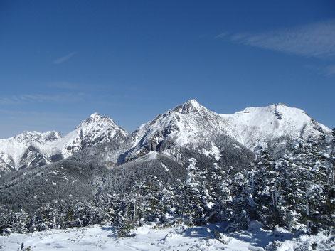 八ヶ岳 西岳 雪山 登山 ガイド
