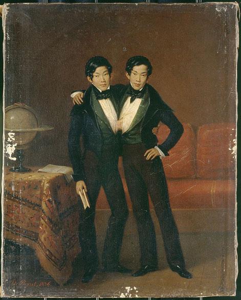 チャン&エン兄弟の肖像(1836年)