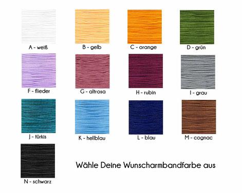 Bandfarbe Auswahl