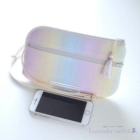 新作・幸せを呼ぶレインボーカラーのお財布ショルダーバッグ