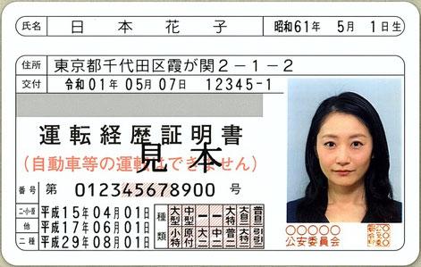 運転経歴証明書(出所:運転経歴証明書について/警察庁)