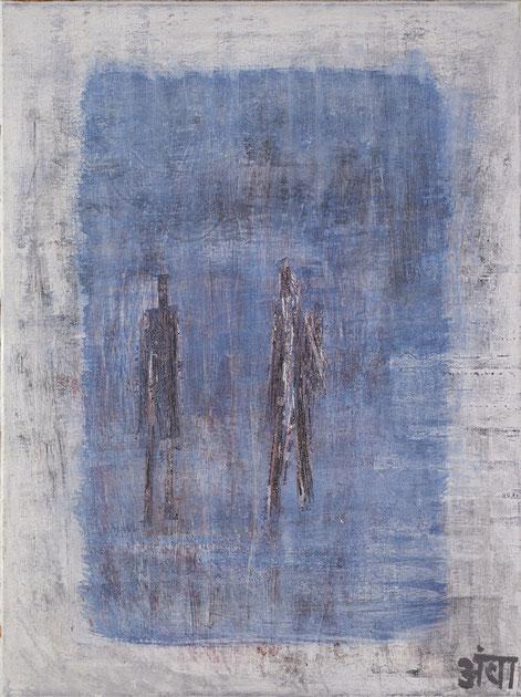 """""""Unter Wasser...""""; Acryl auf Leinwand; 60 x 80 cm / Sold / Verkauft"""