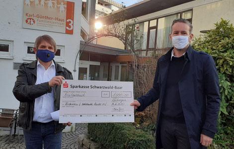Claus Geppert- Geschäftsstellenleiter Förderverein helfen-hilft.de   Arno Sauter - Geschäftsführer visutec