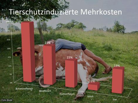 Der Wissenschaftliche Beirat für Agrarpolitik meint, Hühnerfleisch würde infolge erhöhter Tierschutzauflagen etwa 15 Prozent teurer.