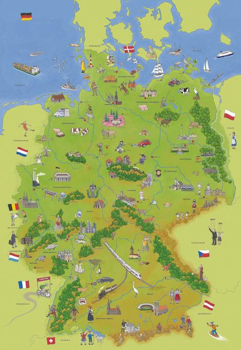 Karte von Deutschland, 2013
