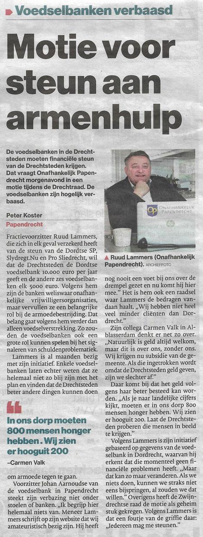 Artikel verschenen in het Algemeen Dagblad op 1 juli 2019