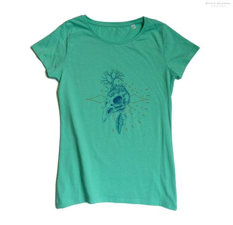 pinceau, pochoir, Kitsch-paradise, kitsch, paradise, peinture, tee-shirt, fashion, week, artisan, créateur, macramé, bijoux, bretagne, peint à la main, couleur