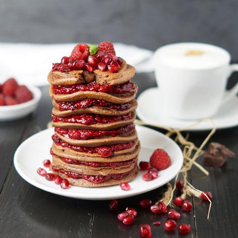 triple chocolate pancakes