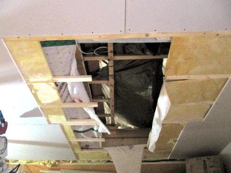 2: Vorbereitetes Dachfenster