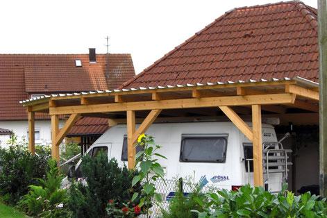 Flache Dachkonstruktion