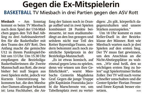 Artikel im Miesbacher Merkur am 10.11.2018 - Zum Vergrößern klicken