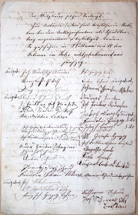 p. 8; Unterschriften