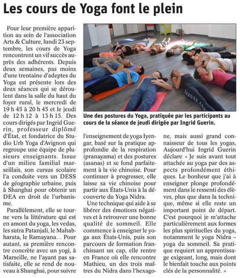 Yoga à Chateauneuf du pape. Arts et culture