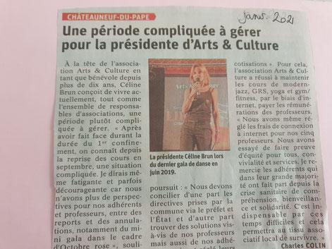 Celine Brun association arts et culture Châteauneuf du pape
