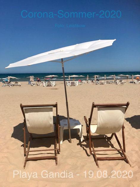Playa Gandia, 08/2020