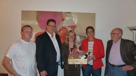 v. l. n. r.: Karsten Holderberg, Heiko Haaz, Kerstin Radomski, Claudia Schmidt und Klaus Plonka (Foto: Thomas Stralka)