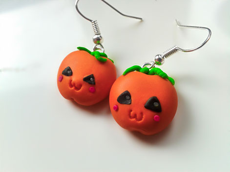 Kawaii Pumpkin Earrings