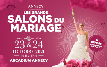Salon du Mariage à Annecy 23 et 24 Octobre 2021