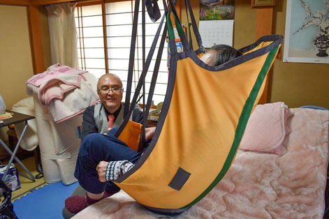 ベッドから車いすへの移乗介助負担軽減のため 自宅での移乗用リフト活用についての相談