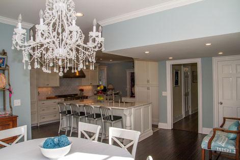 Kitchen renovation with breakfast nook addition.