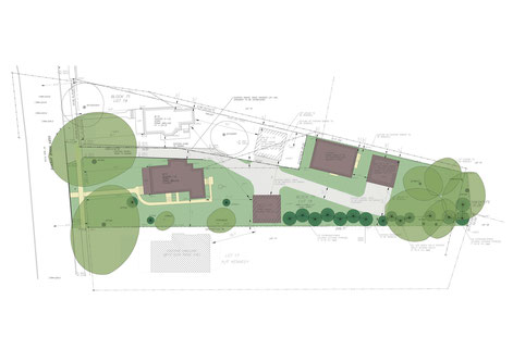 Site Plan - Carriage house is located to the right.