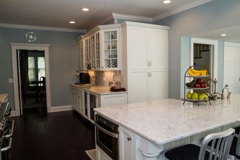 Kitchen renovation and addition.