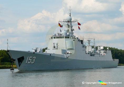Chinesischer Lenkwaffenzerstörer XI AN 153 passierte Nord-Ostsee-Kanal