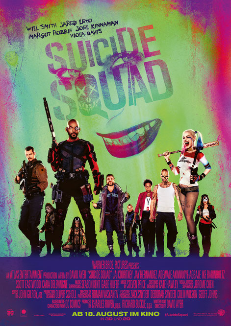 Suicide Squad - DC Comics - Warner Bros Pictures - kulturmaterial - German Poster
