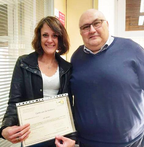 Eva und Javier, Direktor der Sprachschule iNMSOL