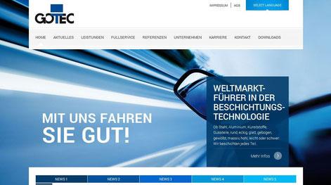 Vom Düsseldorfer Texter Thomas Kadanik: Webseite GOTEC