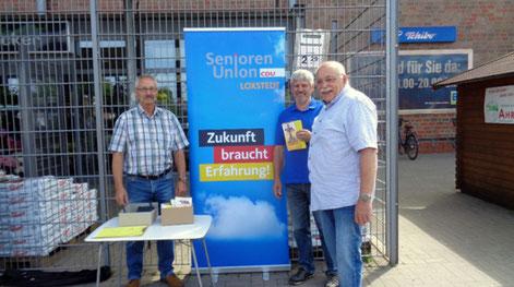 Von links: Wolfgang Grotjohann, Uwe Anders und Günther-Georg Braun