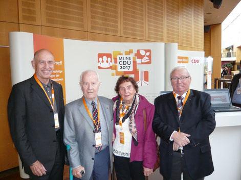 Lutz Pickartz, Dietmar Weritz, Ilse Weritz und Hans-Georg Kühlcke