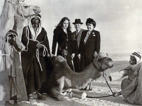 The Duce family in Arabia in late 1947, months prior Ivy & Charmian visited Meher Baba in India.