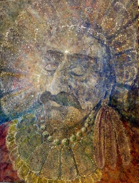 Meher Baba as Quetzalcoat by Roger Stephens. Courtesy of the Meher Baba Association web site