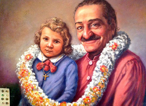 45.  Meher Baba with Al Grasso ( as a child ). Courtesy of Al Grasso