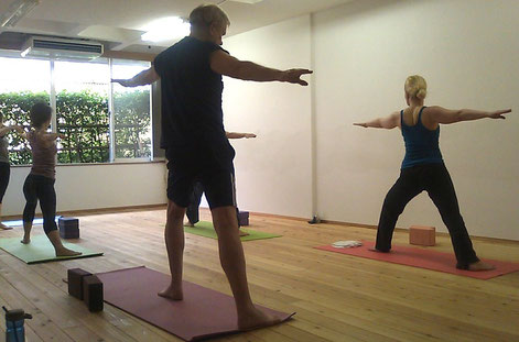 Sunday hatha yoga English class