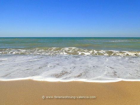 Strand von Gandia, playa de Gandia, Costa de Valencia, Spanien