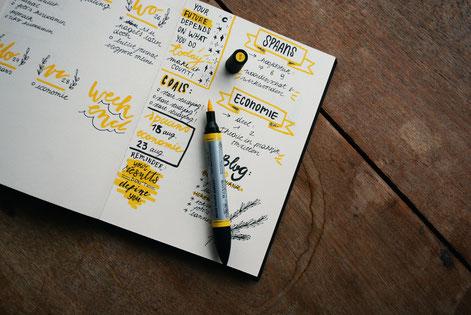 bullet journal, accomplir ses rêves, réaliser ses objectifs