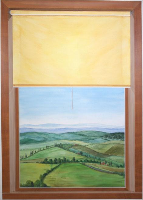 Fensterausblick ion die Toskana