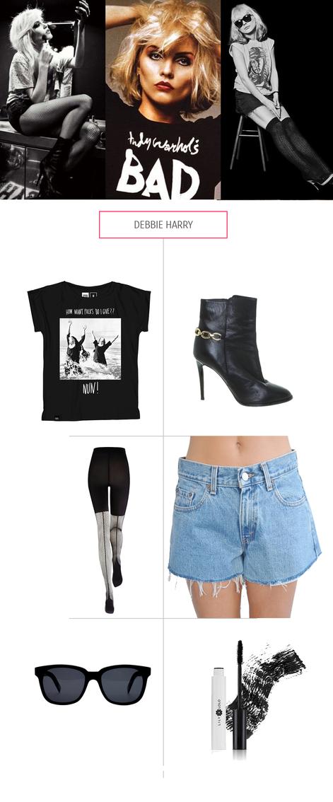 Debbie Harry`s Look mit nachhaltigen & fairen Klamotten nachgestylt