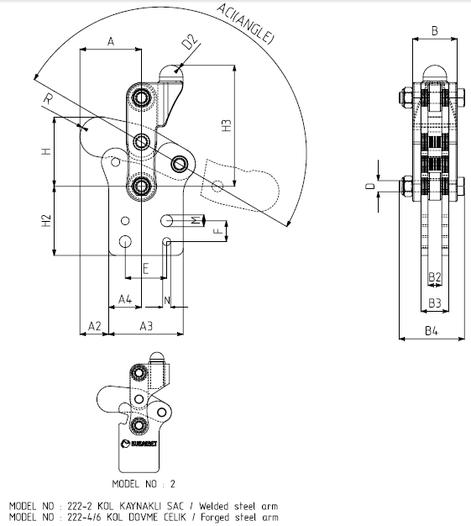KUKAMET Vertikalspanner Modular mit fixiertem Fuß